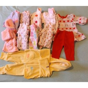 Other - 12 PIECE Girls Winter Clothes Sz 0-3 Months